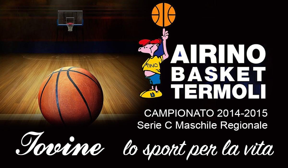 Sponsorizzazione Airino Basket Termoli Campionato 2014-2015 Serie C Maschile Regionale